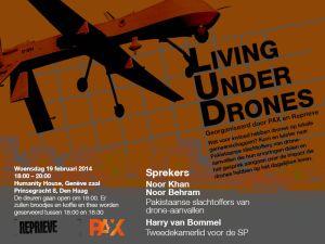 Uitnodiging PAX en Reprieve debat drones 19 februari 2014