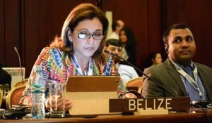Her Excellency Celie Paz Marín, Ambassador of Belize to Costa Rica, at as the first day of the Fifth Meeting of States Parties to the Convention on Cluster Munitions concluded in San José. (c) CMC
